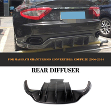 GT Carbon Fiber Auto Car Diffuser Rear Bumper Lip For Maserati GT Gran Turismo Coupe 2 Door 2006-2014