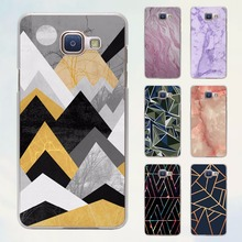 Marble Line Luxury design hard transparent Case for Samsung Galaxy A5 A7 2016 A8 A9 A3 A5 2017
