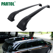 Partol Car Roof Racks Cross Bars Crossbars 75KG/165LBS Cargo Luggage Top Carrier Snowboard for Toyota Highlander XLE 2014-2017(China)