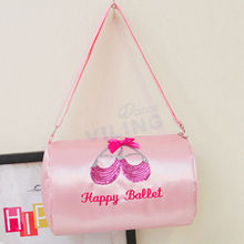 Pink ballet dance bag handbag for girls women bags dancer Embroidered Clutchv Water-proof fabric Shoulder bag with Canvas(China)