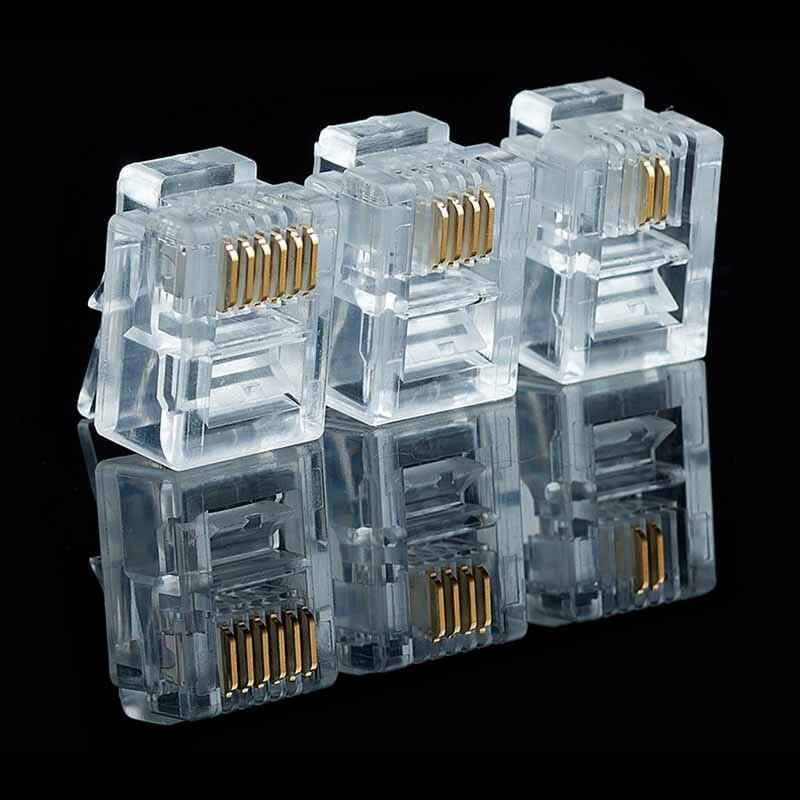6Pin RJ11 RJ-11 6P6C 6P4C 6P2C Modular Plug Telephone Phone Connector  (1)