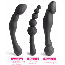 Female Male Stimulated G-spot Ass Insert Bead Stopper Butt Plug Anal Bead Gags & Practical Jokes Toys