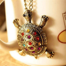 SHUANGR 2016 New Fashion Turtle Pendant Necklace Wholesale Vintage Cute Sweater Tortoise Necklaces Jewelry For Women
