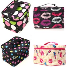 Multifunction Fashion Cosmetic Bag Big Travel Lingerie Bra Underwear Dot Bags Cosmetic Makeup Toiletry Storage Organizer Case