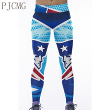 PJCMG Fitness American Football Pants Seahawks 3D Printed Sports Leggings Yoga Pants Exercise Women Running Tights(China)