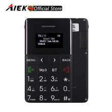 New Arrival Ultra Thin AIEK/QMART Q5 Card Mobile Phone 5.5mm Pocket Mini Phone Quad Band Low Radiation AEKU Bluetooth Dialer(China)