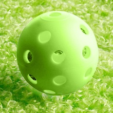 50pc/LOT Plastic golf Training balls Whiffle Airflow Hollow Golf Practice Balls Training Sports Balls Golf Accessories 2Colors