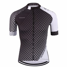 Coolmax plain cycling jersey equipment/tour de france 2017 pro cycling clothing/dry fit cool high visibility ropa ciclismo(China)