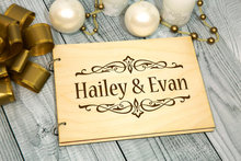 personalized alternative Rustic wedding guest album book engraved Wooden guestbooks Reception party decorations