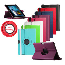 360 Rotating PU Leather Stand Case Smart Cover For Samsung Galaxy Note 10.1 inch N8000 N8010 N8013 Tablet Cases