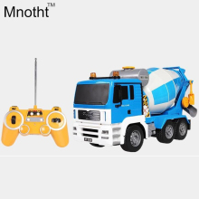 2016 New Remote Control Engineering Vehicle Car Blue 1:20 Cement Concrete Mixer Truck Charging Children's Toys Hotsales