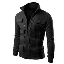 Fashion men are upscale in winter slim Fit Casual trench Solid Zipper coat/male pure color Pure cotton long jackets #WQ8550(China)