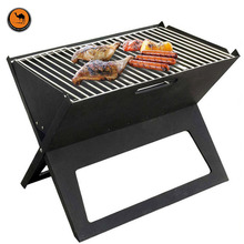 More Convenient BBQ Tool Black Iron Notebook Type Foldable Portable Grill Barbecue Supplies Fits 3-5 Person(China)