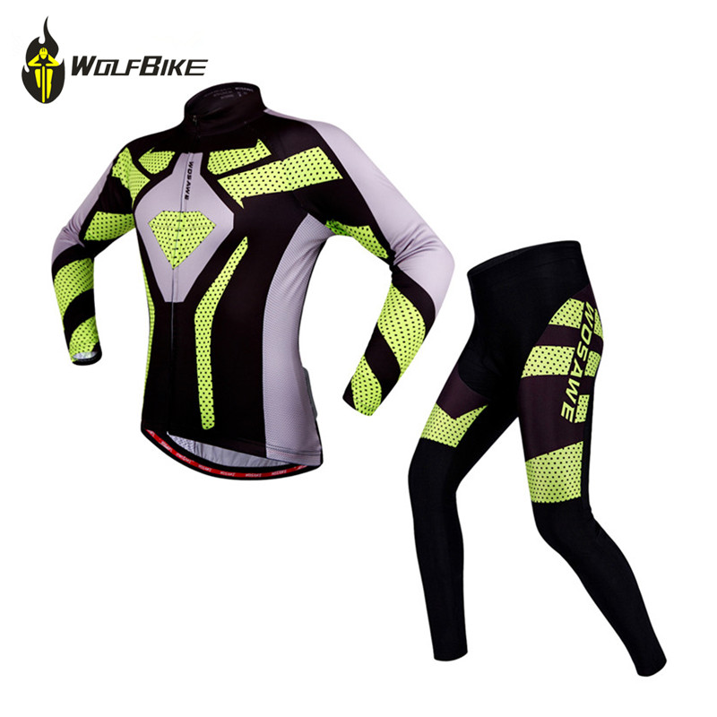 WOSAWE Breathable Summer Bicycle Bike Team Riding Wear Clothes Ciclismo Cycling Jersey Gel Pad Cycling Clothing<br>