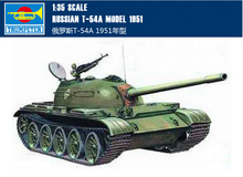 Trumpeter plastic scale model 1/35 00340 Russian tank T-54A Model 1951 assembly model kits modle building scale vehicle kit(China)