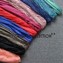 10pieces mixed color hijab muslim lace hijab plain solid lace shawl soft viscose scarves ladies lace islamic scarf long wraps