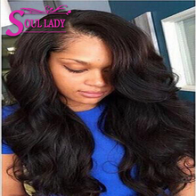 Soul Lady Indian Remy Hair Body Wave Natural Black Color 8-28 Inch 100% Human Hair  Weave One Piece only Free Shipping