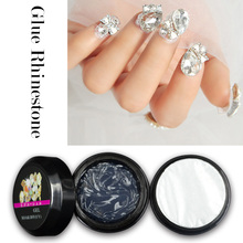 Saviland 1pcs Gel Varnish Glue Rhinestone UV Adhesives Super Sticky Professional Clear Gel Lacquer Nails Tool Diamond