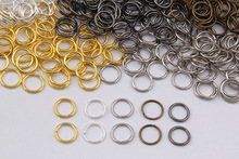 200pcs/lot 4/6/8/10mm Open Jump Rings Bronze/Gunblack/Gold/Silver/Rhodium plated Link Loops for DIY Jewelry Connector Making(China)