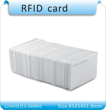 Free shipping 200pcs withe EM4100 125Khz RFID Proximity Cards ID Card Door Entry Access 0.8mm, IN STOCK