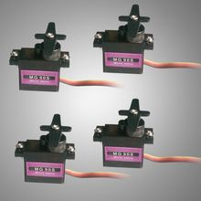 4pcs RC Micro Servo 9g Metal Gear For Arduino robot Align Trex 450 RC Helicopter Airplane(China)