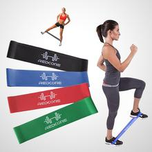 Unisex 0.7mm Sport Resistance Band Exercise Loop Blue Crossfit Strength Weight Training Fitness Equipment