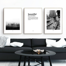 BIANCHE WALL Beautiful Retro Railway Canvas Art Prints Poster Forest Landscape Wall Picture for Home Decoration Wall Decoration(China)