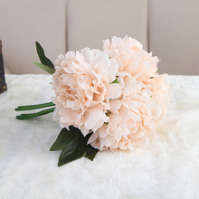 Artificial Peony Bouquet Silk Simulation Flowers Real-like Home Party Decor Wedding Decoration