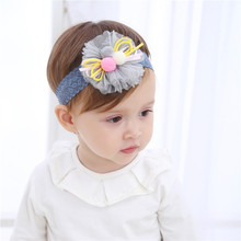 small ball lace flower headwear baby girl headband making baby headbands 10pcs/lot F020(China)