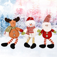 New Wooden Beads Legs Hangings Christmas Gifts Old Man Snowman Elk Gift Plush Stuffed Toys 26cm Cute Doll Toys(China)