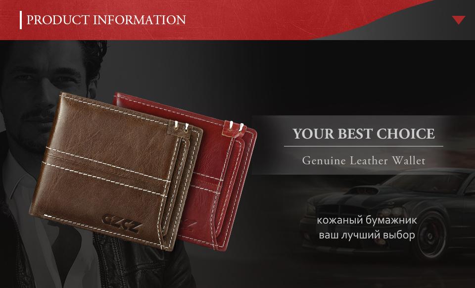 40e4caa63065 GZCZ Coin Purse Men S Genuine Leather Wallet Men Card Holder Male ...