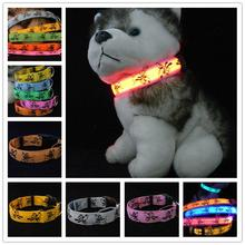 Pluto Nylon LED Dog Collar Glow Pet Necklace Dog Collar Flashing Lighting Up High Quality Dark Safety Collar THC23(China)