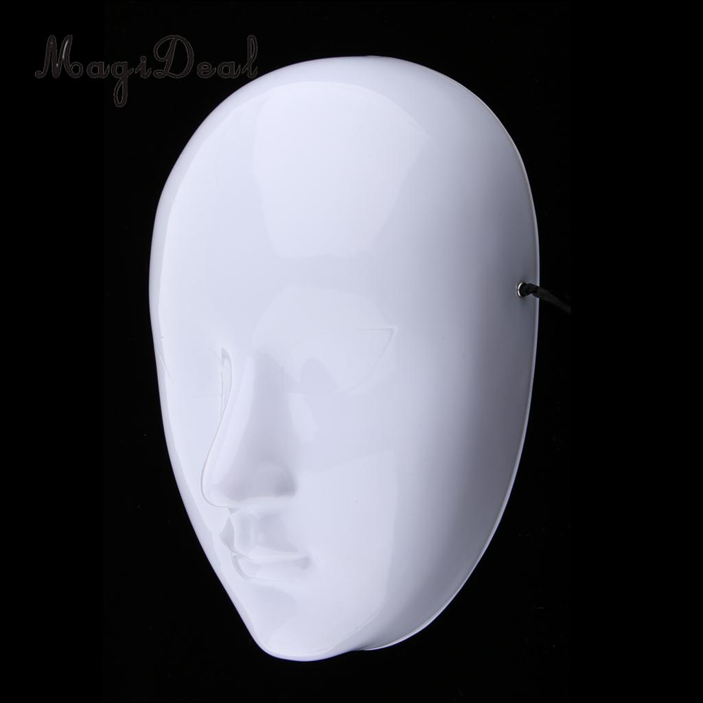 White Blank Mask Venetian Masquerade Mask Vintage Design Costume Party Favor