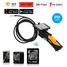 Blueskysea HD 720P WIFI Inspection Camera Endoscope Snake Camera 2.0 Mega Pixels 3M Cable 8.5mm lens 6 LED for Smartphone