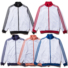 Hip Hop Striped Jakcet Men Classic Fashion Outdoor Breathable Coaches Windbreaker Coats Men School Purpose Tour Zipper Jackets