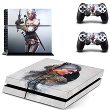PS4 Designer Skin Decal for PlayStation 4 Console System and PS4 Wireless Dualshock Controller - The Witcher 3: Wild Hunt