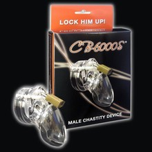 Happygo,Male Chastity Device With 5 size Penis Ring,Cock Cage,Cock Ring,Virginity/Chastity Lock/Belt,Adult Game,Sex Toy,CB6000S