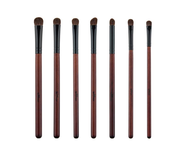 Anmor Acheter 3 Obtenir 1 Cadeau Professionnel Pinceaux de Maquillage Kit Poudre Blush Brosses de Ventilateur avec un cadeau fard à paupières brush set 4
