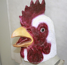 China Manufacturer Full Head Cock Eco-friendly Latex Rooster Mask