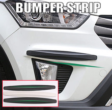 Ssport 2pcs/set Large Car Rubber Bumper Protector Guard Corner Strip Crash Bar Trim Protection Door Guards Lip Deflector Angle