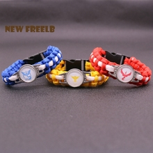 Buy Hot Game Go Team Valor Mystic Instinct Logo Paracord Bracelet Rope Chain Outdoor Fashion Jewelry Women Men fans for $2.47 in AliExpress store