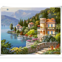 3D Diy diamond embroidery landscape painting full rhinestones pasted painting cross stitch mosaic crafts The Mediterranean Sea