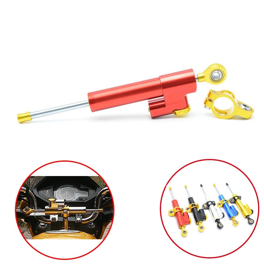Universal Motorcycle Damper Steering Stabilizer Moto Linear Safety Control For SUZUKI GSR750 GW 250F SFV 650 TU 250 SV 650 1000S<br>