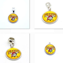 2017 New Arrival Pendant MLB Pittsburgh Pirates Charm Pendant Fit Bracelet DIY Dangle Charms Jewelry Baseball(China)