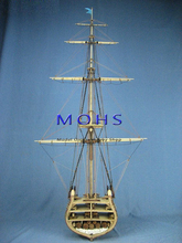 Classic wooden scale sailing boat wood scale ship 1/62 CONSTITUTION cross section with base scale assembly model ship kits(China)