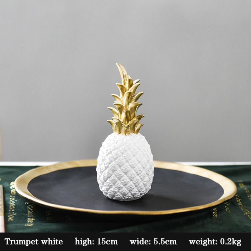 Original Nordic Modern Pineapple Fruits Living Room Wine Cabinet Window Desktop Home Decoration Furnishing Prop Accessories 9