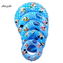Amysh 70-90CM baby Cartoon swimming neck ring Neck Float Inflatable Tube Ring Safety Child Toys Kids Swim Ring inflatable toy
