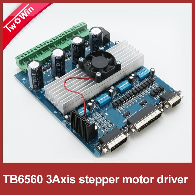 3axis TB6560 3.5A CNC engraving machine stepper motor driver board 16 segments stepper motor controller D001A<br><br>Aliexpress
