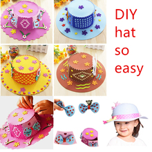 Felt DIY Package EVA Foam Topee Arts Crafts Sewing makeHat Kits 3D Puzzle Jigsaw Kindergarten Educational Kids Toys for children