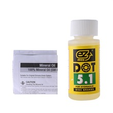 Buy ezmtb Mineral Oil Brake Oil Fluid DOT Bicycle Disc Hydraulic Mineral Lubricant Mountain Bike 60ml